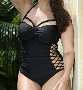 Other - Brand new 2019 Black plus size swimsuit monikini